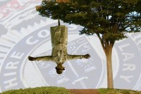 Police receive report of man hanging upside f