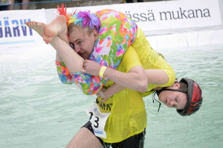 Wife-Carrying World Championship held in Finland